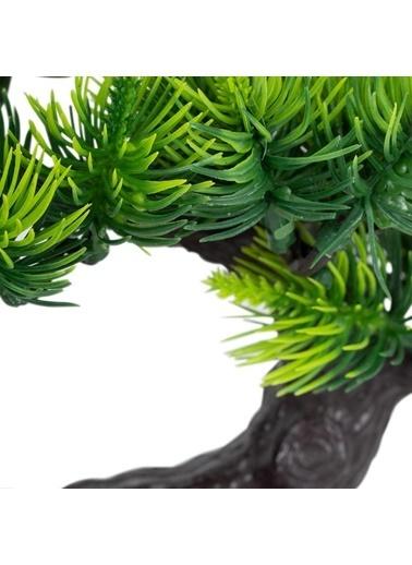 Çiçekmisin Kütük Saksıda Yapay İğneli Çam Ağacı Renkli